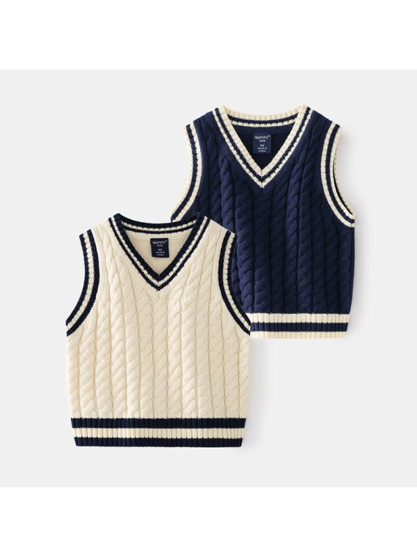 【18M-7Y】Boys College Knitted Vest