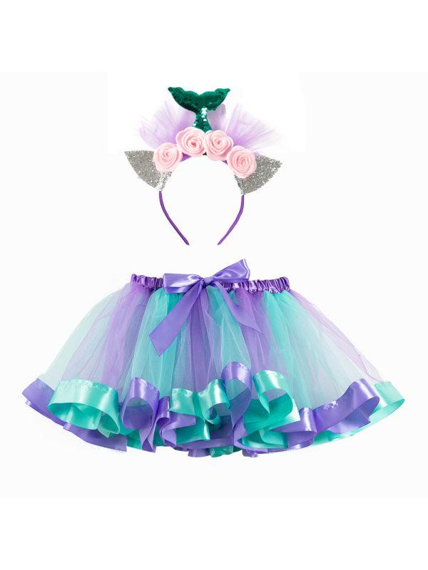 【2Y-7Y】Girl Tutu Skirt Tutu With Hairpin