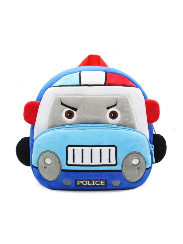 Kids Plush Police Car Backpack