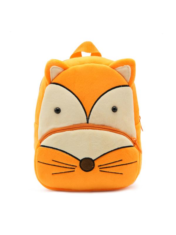 Kids 3D Cartoon Fox Plush Backpack