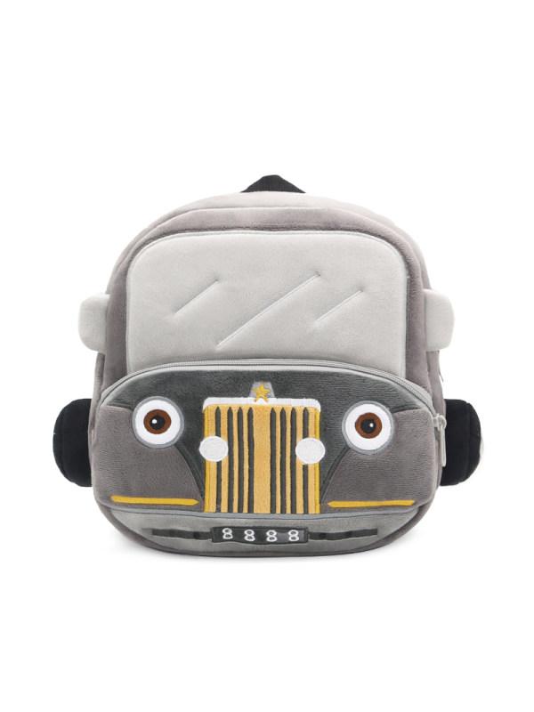 Kids Plush Classic Car Backpack