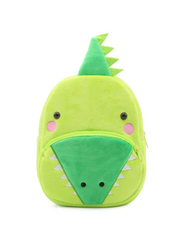 Kids 3D Cartoon Crocodile Plush Backpack