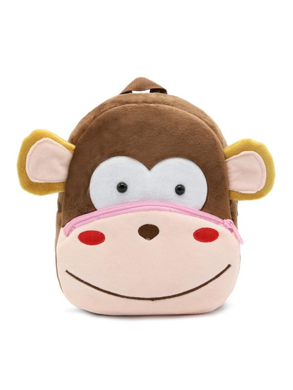 Kids 3D Cartoon Monkey Plush Backpack