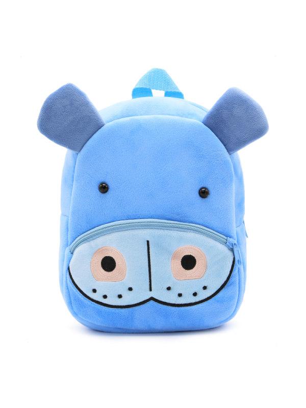 Kids 3D Cartoon Hippo Plush Backpack