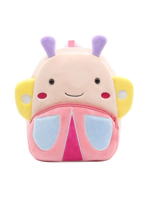 Kids 3D Cartoon Butterfly Plush Backpack