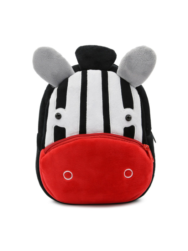 Kids 3D Cartoon Zebra Plush Backpack