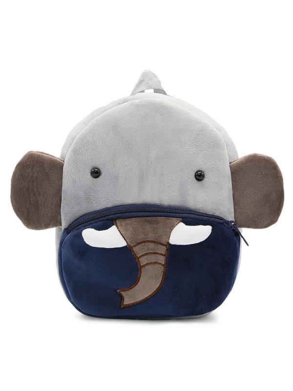 Kids 3D Cartoon Elephant Plush Backpack