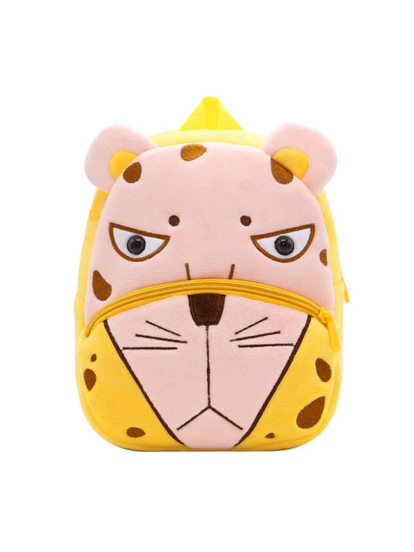 Kids 3D Cartoon Leopard Plush Backpack