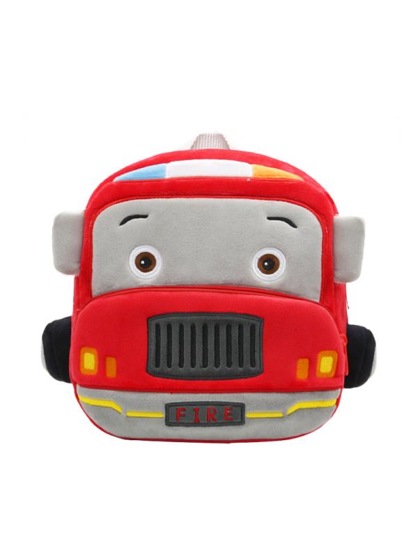 Kids Plush Fire Truck Backpack