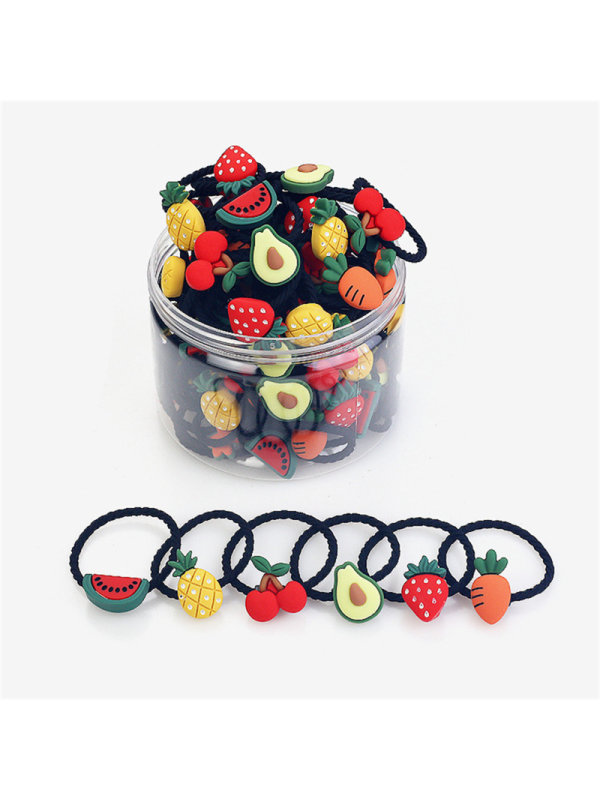 30 Pieces Cute Fruit Rubber Band Small Hair Tie Girls Hair Accessories