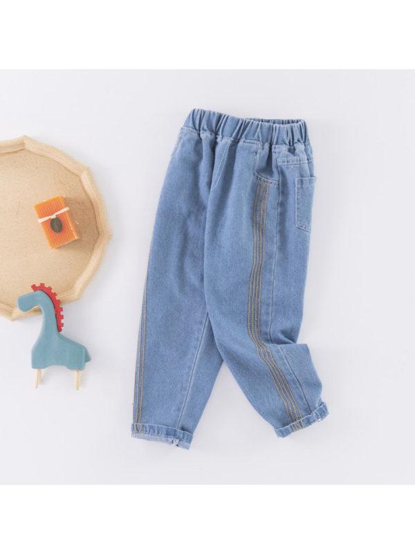 【3Y-15Y】Boys Casual Loose Denim Trousers