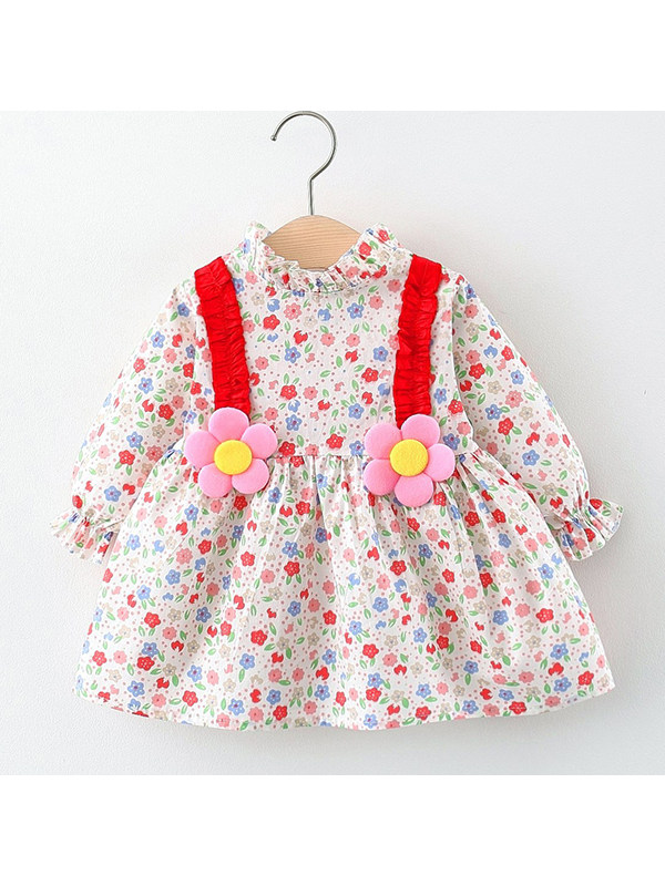 【12M-4Y】Girls Small Floral Dress