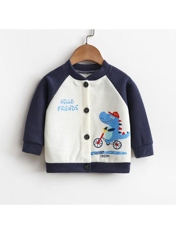 【12M-5Y】Kid Cute Cartoon Print Long Sleeve Jacket