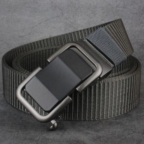 New belt men's automatic buckle men's toothless trend nylon canvas belt young people outdoor casual pants belt men
