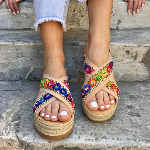 Bohemian Peep Toe Casual Sandals