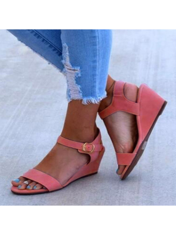 Casual Low Toe Velvet Plain Wedge Date Heeled Sandals Peep 0N8wnm