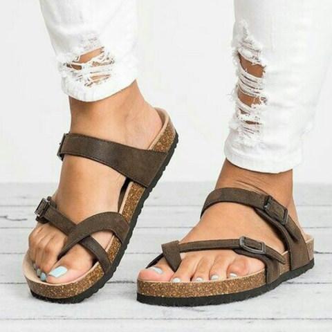 Animal Printed Plain Flat Velvet Peep Toe Casual Comfort Slippers