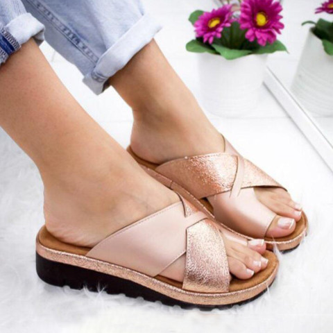 Casual Date Travel Plain Peep Toe Slippers
