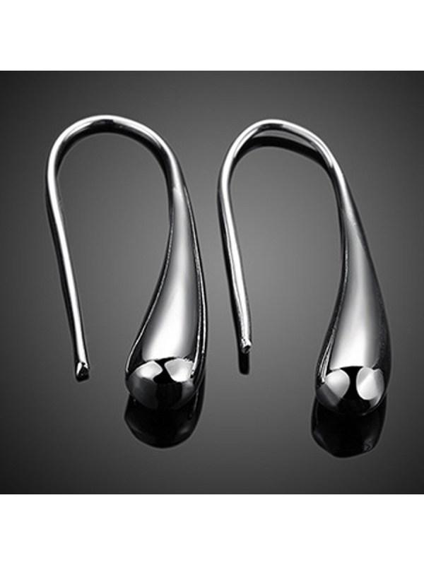 Silver Drop Designed Earrings