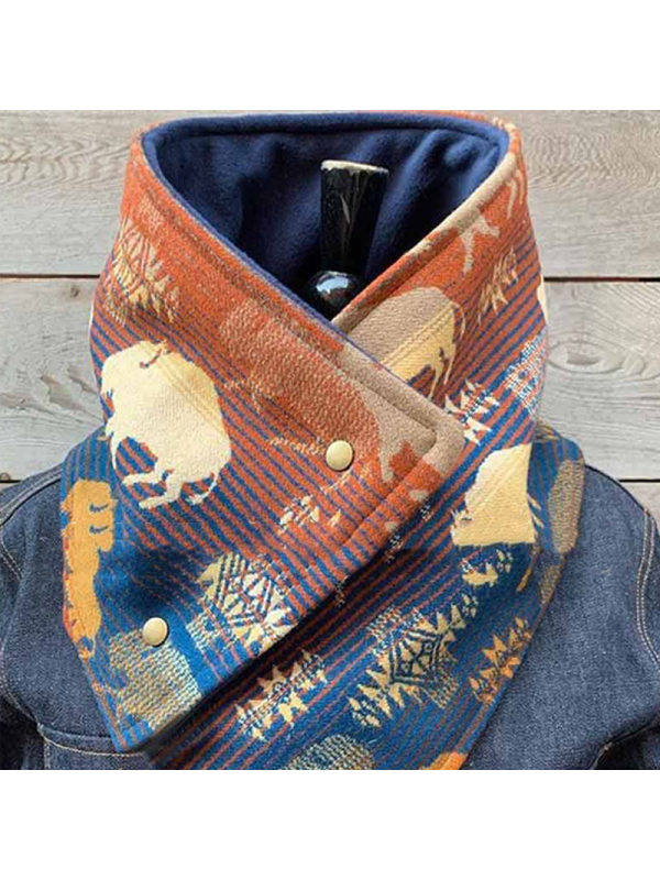 Fashion Printed Warm Scarf