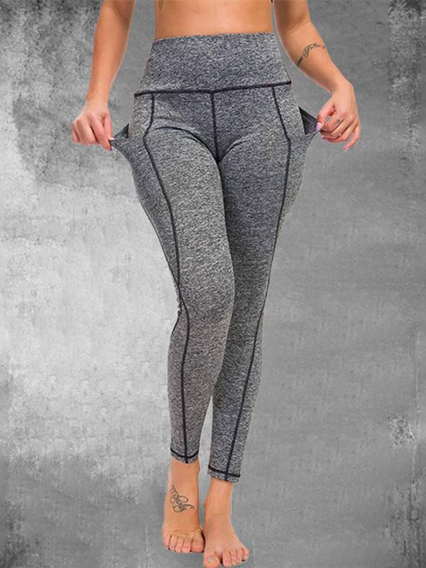 Explosive yoga pants sweatpants waist waist hip sweat absorption quick-drying leggings women