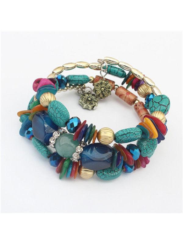 Ethnic style tassel flower tassel beads bracelet