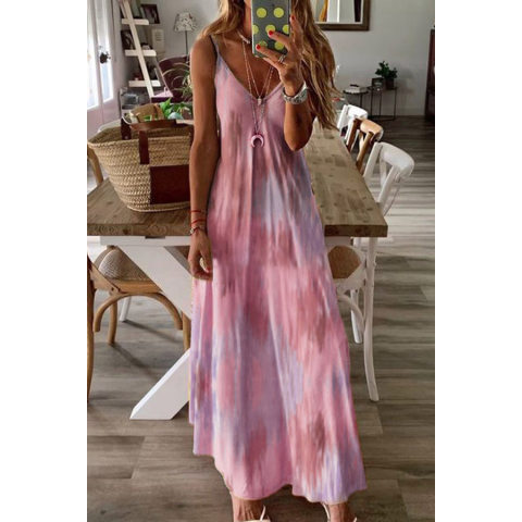 Image of Sling Printed Maxi Dress
