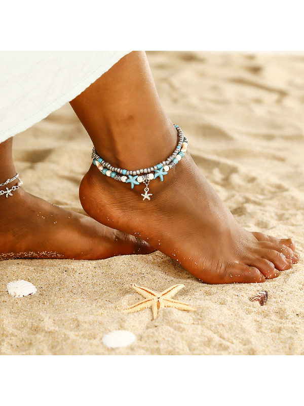 Fashion Double Starfish Anklet