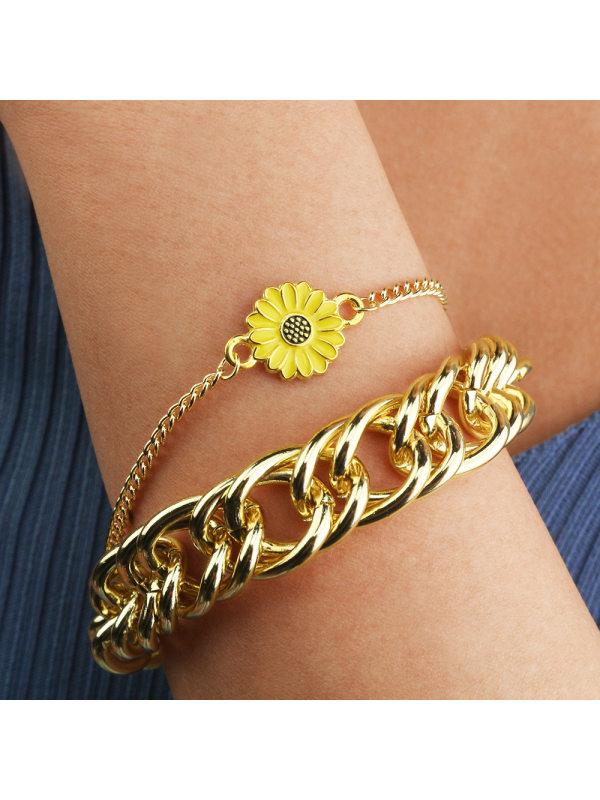 Fashionable Popular Daisy Bracelet