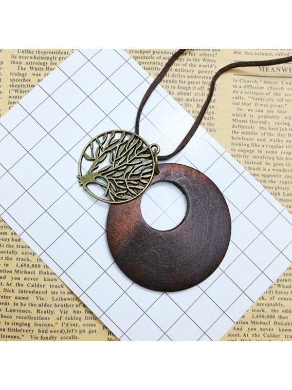 Simple coconut shell pendant