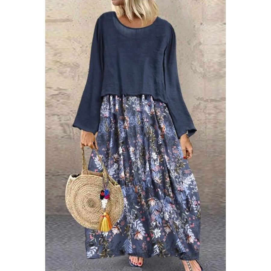 2020 Autumn Printed Maxi Dress