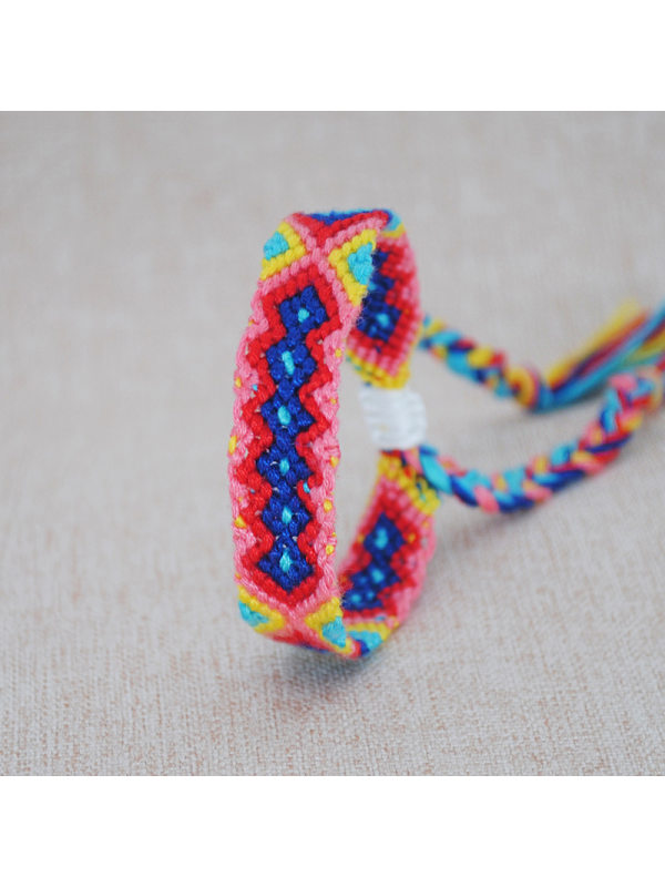 handmade original hemp cotton braided bracelet bohemian color ethnic style art elastic hand rope