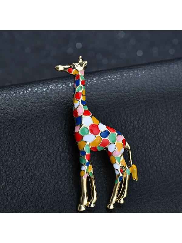 Fashion Colorful Giraffe Brooch