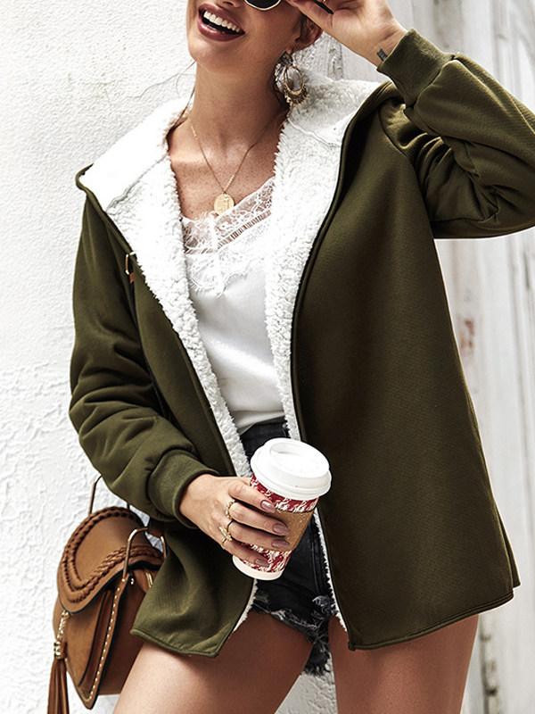 New product double-sided fleece hooded coat