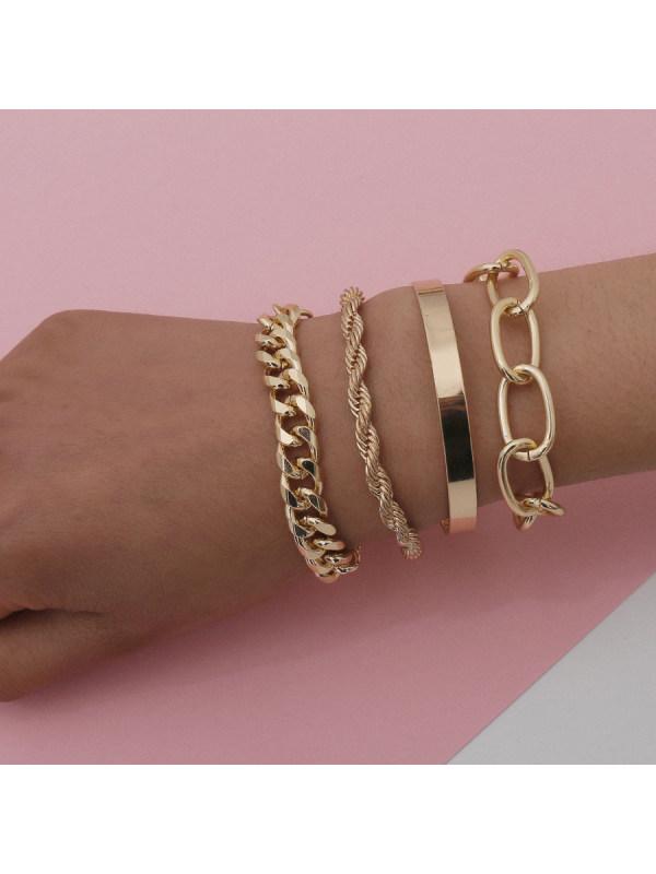 Fashion Thread Shape Combination Bracelet