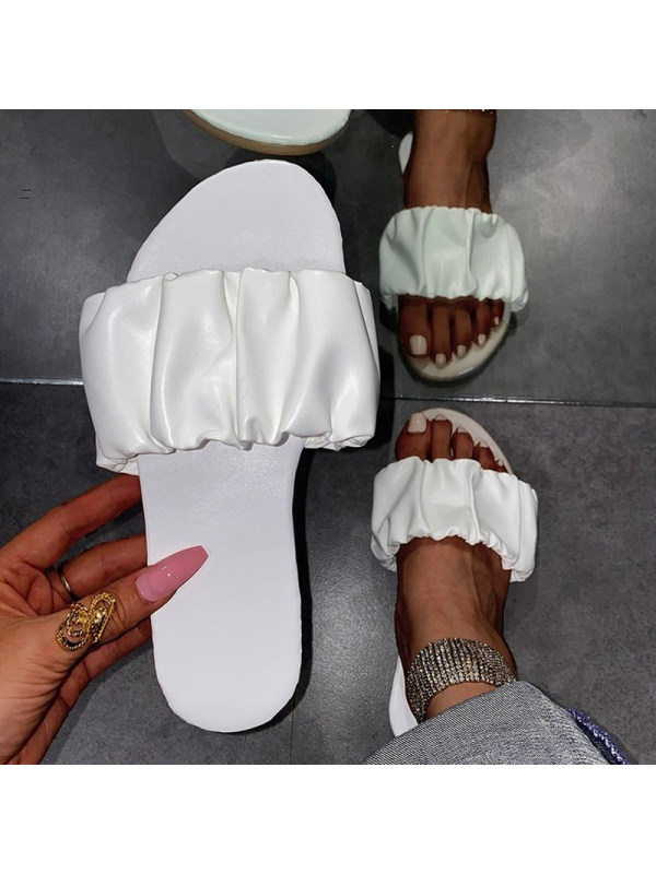 Casual Solid Color Flat Women Slippers