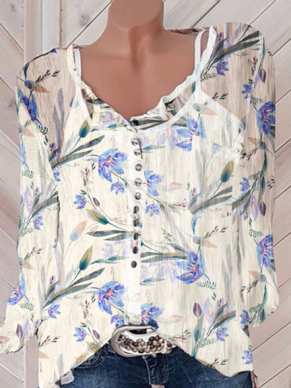 Women's Casual Printed Colour Blouse