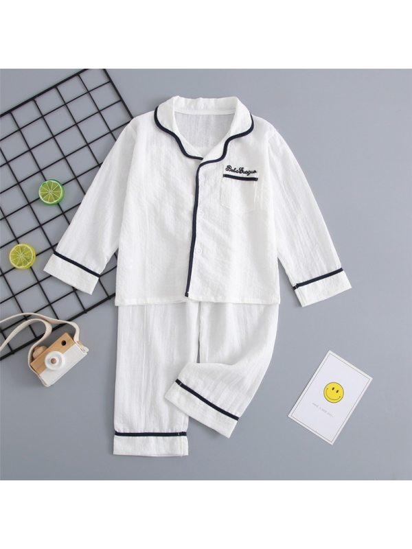 【2Y-13Y】Girls Solid Color Lapel Home Suit