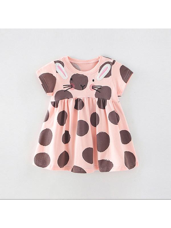 【18M-9Y】Girls Sweet Polka Dot Dress